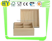 2015 china supplier wholesale unfinished wooden tea bags box