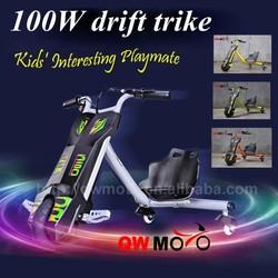 2015 cheap hot sale 100W electric mini chopper ATV bike drift scooter trike for sale