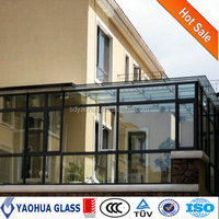 3-19mm CCC AS/NZS ISO CE tempered glass price for glass sunroom