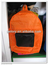 cheaper 210D durable polyester folding backpack
