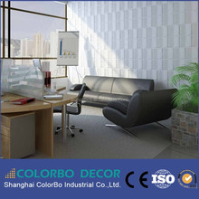 high density China manufacturer fireproof material 3d wall covering