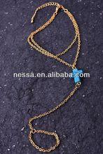 Acrylic cross wrap around bracelet.