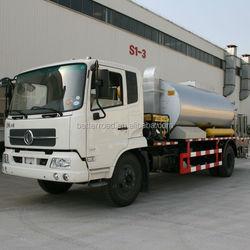 New asphalt sprayer use bitumen for road construction