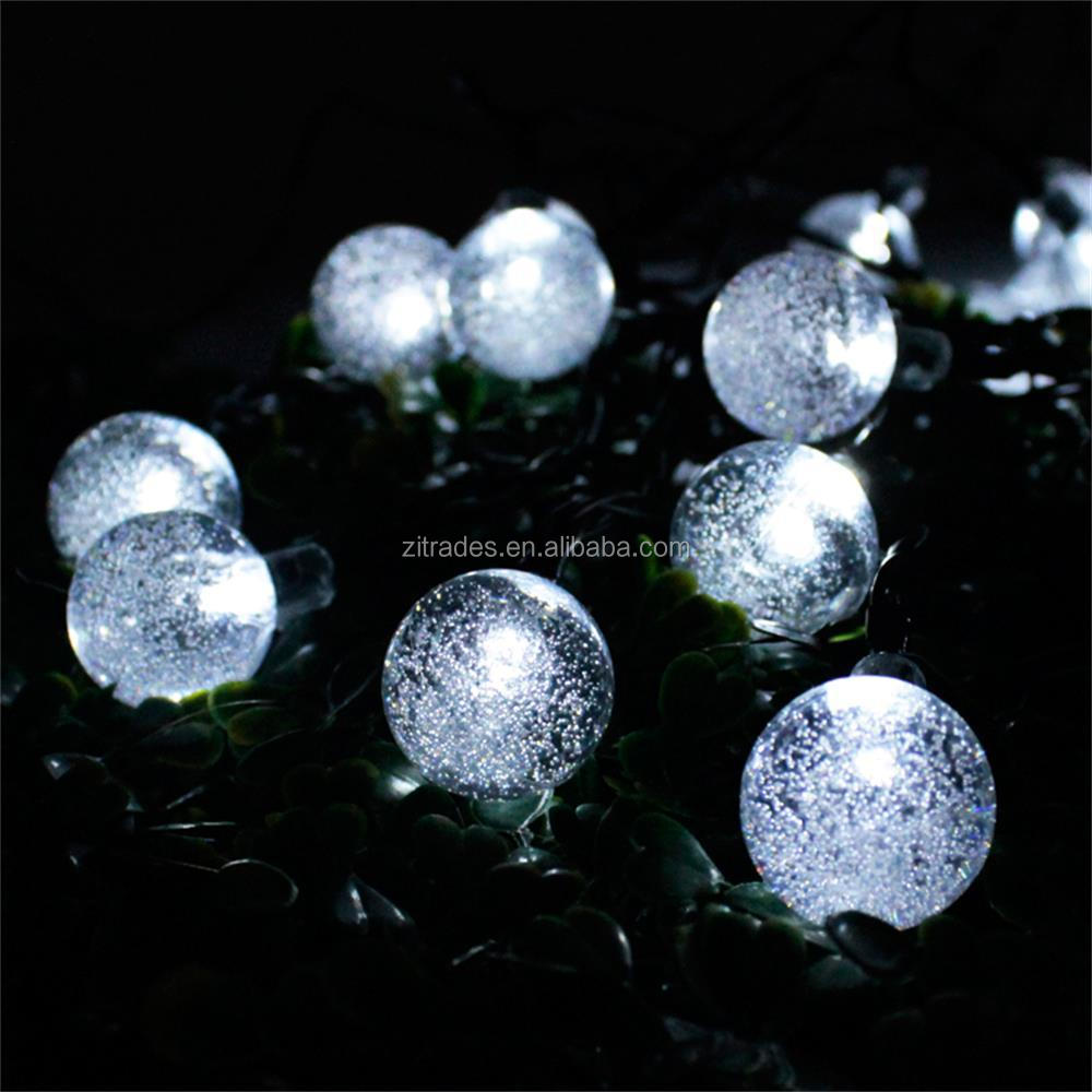 White String Garden Lights : Solar Outdoor String Lights White 30 Led Crystal Ball Solar Powered Globe Fairy Light For Garden ...