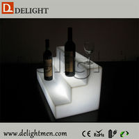 Lighting up bar color changing beer/whiskey/liquid bottle display rack