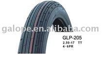 Motor tyres & tubes 2.50-17 4PR, 6PR GLP-205 Tyres for motorcycle