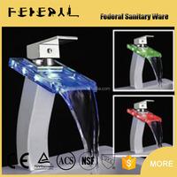 LB-A7h artistic China factory LED glass fancy fashionable 3 color bathroom faucet