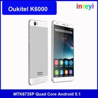 Oukitel K6000 5.5 Inch HD MTK6735P Quad Core 2GB RAM 16GB ROM 4G FDD LTE 3G WCDMA 2+8MP camera GPS Mobile phone