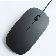 Plastic 3D Optical USB Cheap Wired Black Mouse