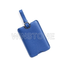 Simple Design Real Leather Luggage Travel Tag