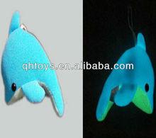 glow fur plush toy dolphin glow in the dark plush toy