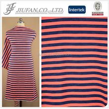 Jiufan Textile Hot Sale TC Fleece Knitting Fabric Striped Tc Fabric Supplier For Clothing