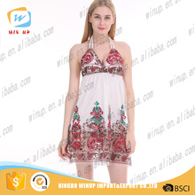 2016 latest designs American style solid knit open net dress for womens summer dress