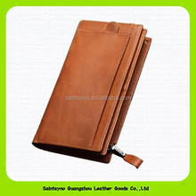 14326 Huge capacity soft leather mobile phone wallet case
