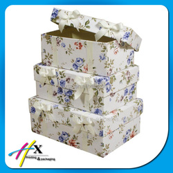 gift and craft industrial use cardboard storage box with lid