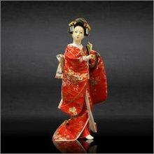 Japanese Toy Dolls Miniature Oriental Kimono Geisha Figures Gift