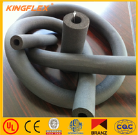 flexible thermal insulation NBR/PVC elastomeric soft heat rubber foam round thermal insulation tube for air condition