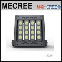 0-10v dimmable LED floodlight mount pole 150watt Taiwan Meanwell driver 150w super bright flood lights LED sports field lighting