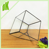 **Our cube handmade outdoor flower vases will add a simple charm to each room in your home^^ geometric glass outdoor flower vase