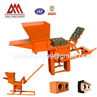 QMR2-40 low investment manual soil interlock bricks machinery NO need electricity
