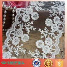 "2015 newest Lace Trim Ivory White Rose Embroidery Wedding Trim 4.33"" width 2 yards"