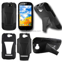 T stand robot hybrid combo kickstand cover case for ZTE Z740