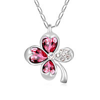 High quality fashionable design new clover necklace made with Swarovski elements