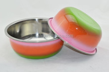 20cm China new products 201ss colorful stainless steel kitchenware for keeping food