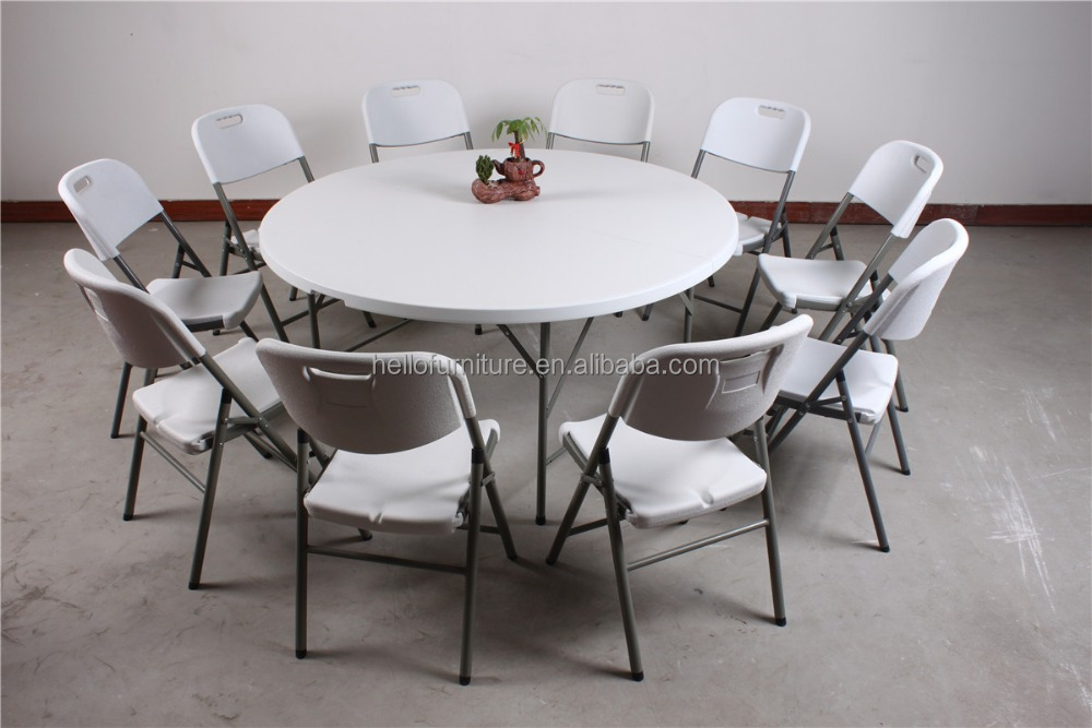 Wholesale 4ft plastic folding round dining table buy 4ft folding
