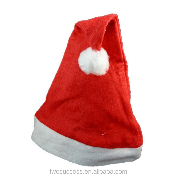 Unisex Plush Christmas Santa HatTraditional Red and White Plush Christmas Santa HatSanta Clause Christmas Hat .jpg