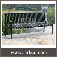 Arlau FS142 outdoor iron bench street public bench steel park bench