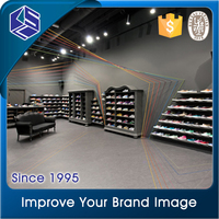 Professional customized wall mount shoes display shelf for adidas shoes men