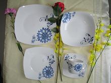 Fashion square jogo de jantar / praça de porcelana e cerâmica jogo de jantar / vajilla