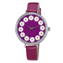 2015 Luxury Leather Women Flower Watches