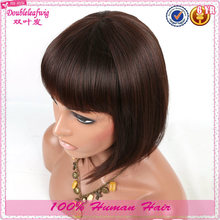Short human hair cheap priced 10'' halloween party wigs