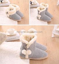 women cheap fur snow kintted sexy thigh high knit boots