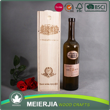 Cheap wood box custom logo wine box wholesale