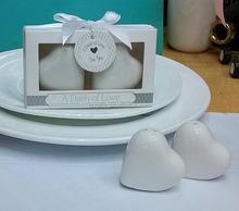 Unique Wedding Favors ceramic cruet set a Dash of Love heart salt and pepper shaker