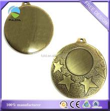 custom bronze brass rough stars blank frame metal sports medal medallion