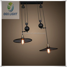 china chandelier iron pendant lights/led dimmable bulbs 3w 5w