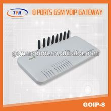 8 sims gsm voip gateway /8 port voip gsm gateway goip with eight channels