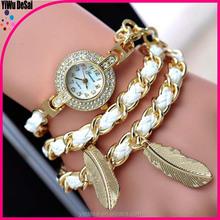 Bracelet watch Ms fashion woven diamond quartz watch