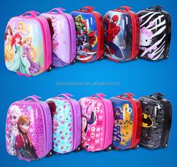 2015 Hot Cartoon Trolley Bag Kids School Bags princess Spider-man Wheel Bag
