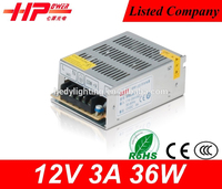 2015 design customized serive Switching Power Supply Rohs Ce approved 3a led driver 12v 36w
