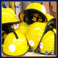 High quality fireman plastic rescue fire fighting helmet