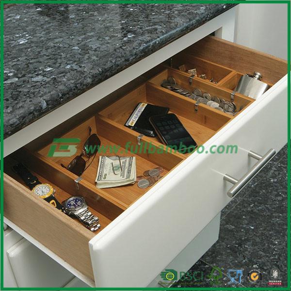 bamboo drawer organizer boxes