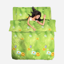 3d bed set wholesaler , cheap price .2015 New 100% Polyester microfiber 3D Bedding Sets