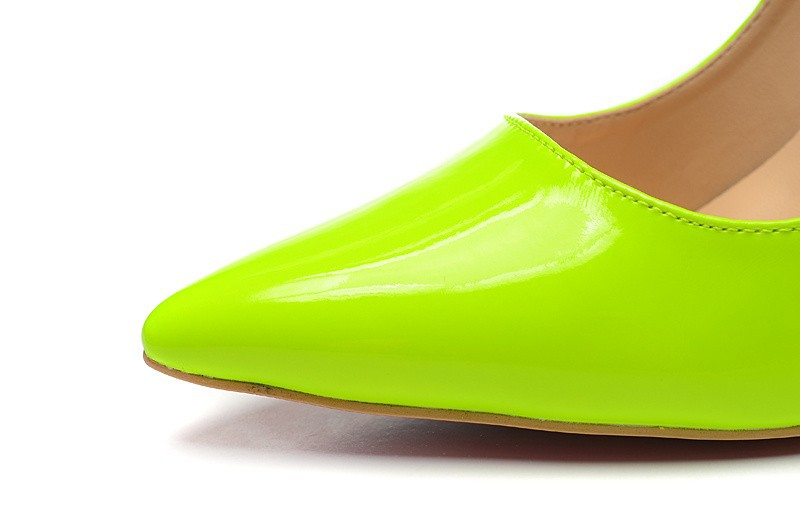 Size:35 41 Women\u0026#39;s 10 cm High Heels Light Green Patent Leather Red ...