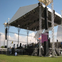 40*40ft dj truss system ,stage truss connect with Global truss