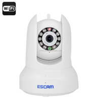 ESCAM QF300 Wireless IP Camera - Pan,Tilt, 120 Degree Angle, 1/4 Inch CMOS Sensor, Two-Way Audio, Android + iOS Support